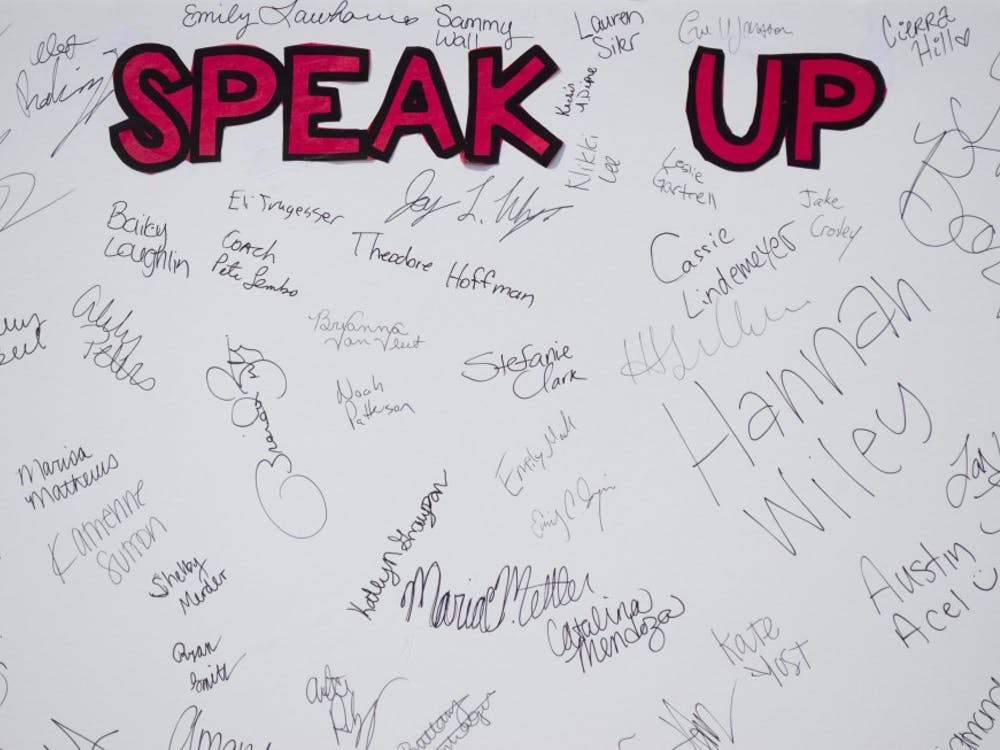 The Step In. Speak Up. campaign took to the Scramble Light on Sept. 3 to get people to sign a pledge  to end sexual assault on Sept. 3 at the Scramble Light.