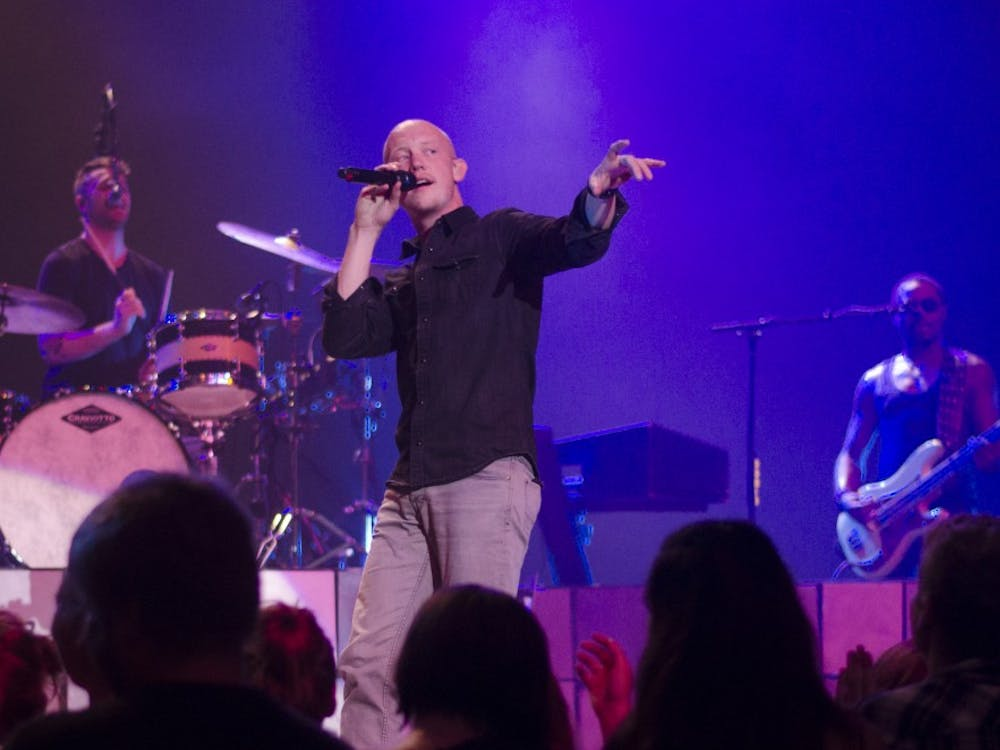 Isaac Slade and The Fray perform at theconcert on Sept. 10 at John R. Emens Auditorium. DN PHOTO BREANNA DAUGHERTY