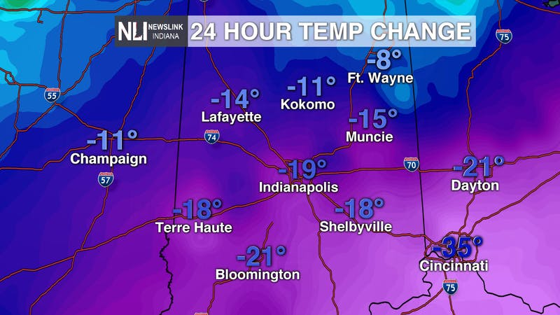 Extremely cold temps ahead