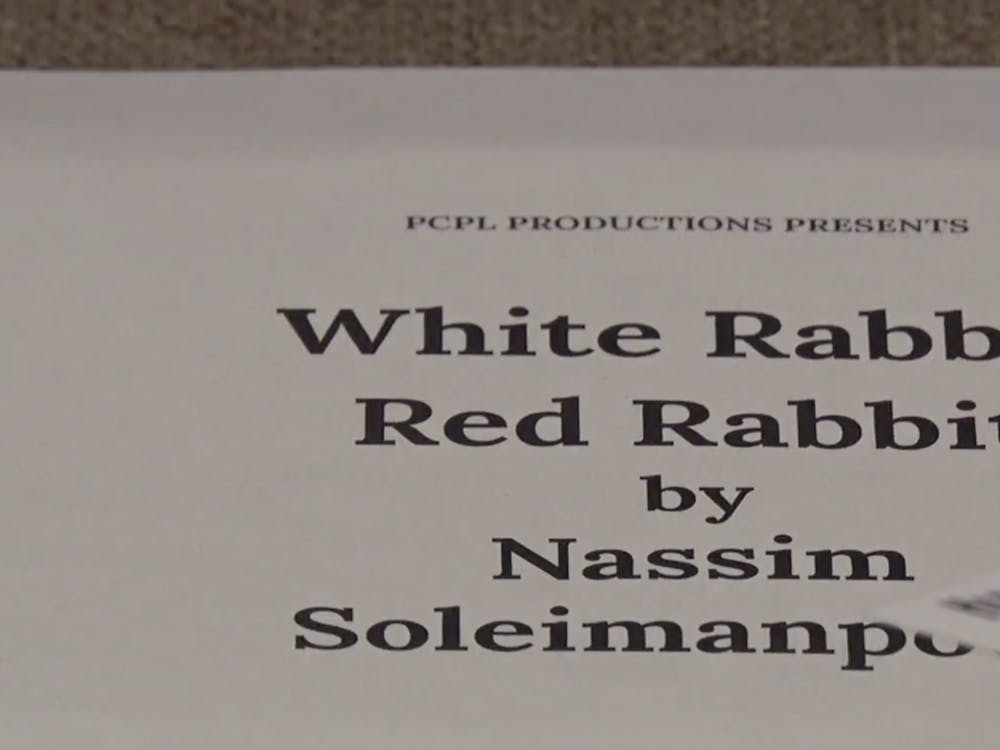"Ball State's Department of Theatre and Dance put on the play ""White Rabbit, Red Rabbit"" on Jan. 24, 2020 in Sursa Performance Hall."