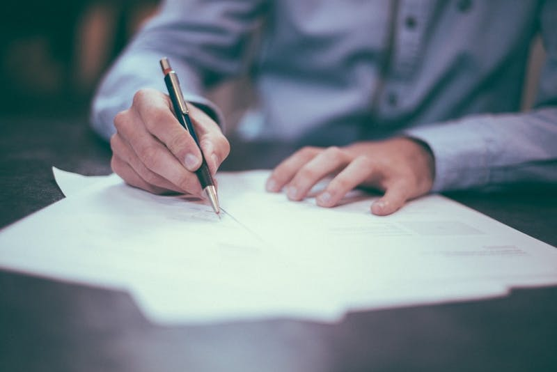 Student legal services can provide help with housing inspection forms or waivers for organization run events. Photo Courtesy, Unsplash