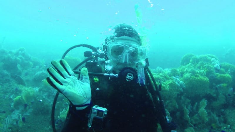 Auxier spent time scuba diving in the Bell Buoy Bay July 15, 2019. Auxier said this was a fun, exploratory dive for her. Autum Auxier, Provided Photo.