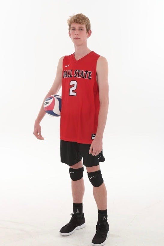 Alongside managing the Wando High School girl's volleyball team, freshman Kaleb Jenness was the captain of the Carolina Union Volleyball Club in 2018. Ball State Athletics,Photo Provided