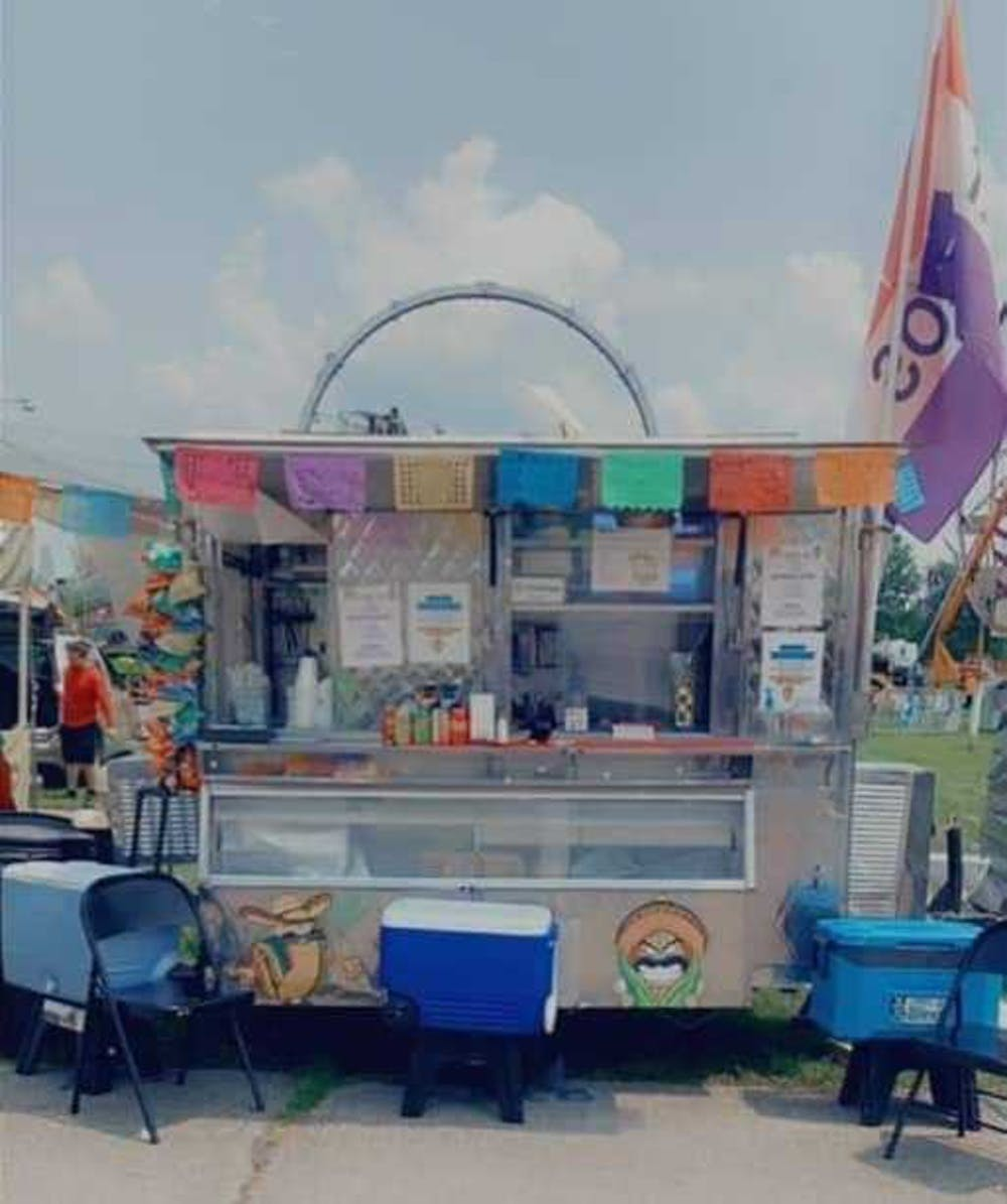 <p>The Tacos Molonco truck sits parked at the Delaware County 4-H Fair in July 2021. The truck opened in June 2021 and travels around Muncie. <strong>Christina Guzman, Photo Provided</strong></p>