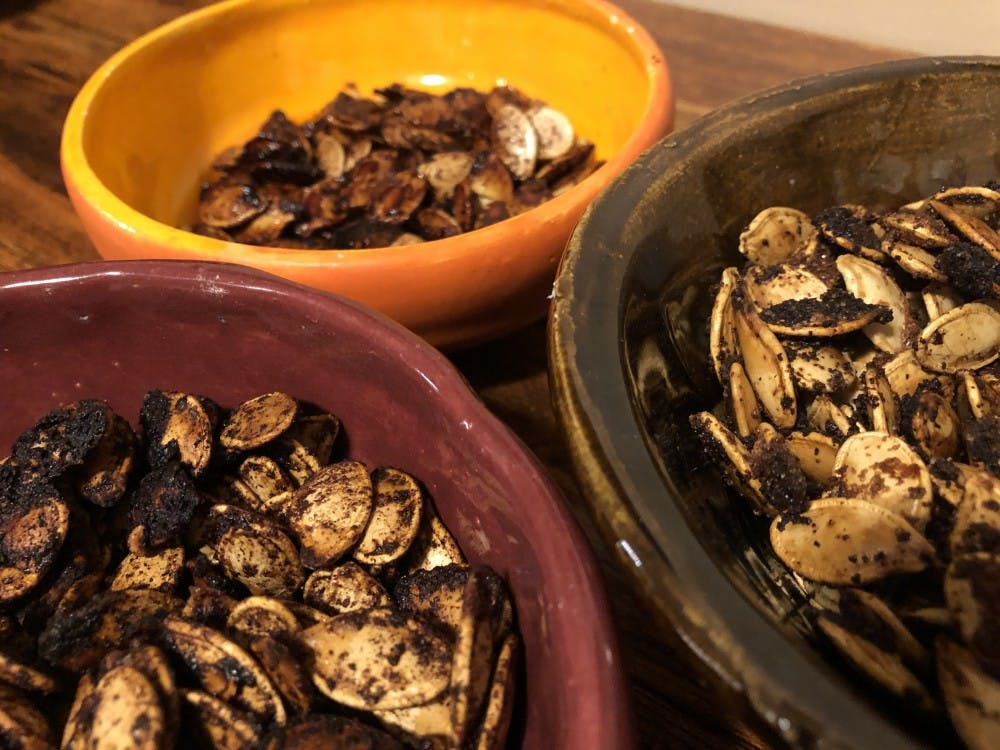 Cinnamon sugar, garlic and sweet & spicy are three ways to flavor your pumpkin seeds this fall. Nicole Thomas, DN