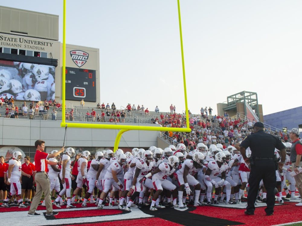 The Ball State football team faced Virginia Military Institute on Sept. 3 at Scheumann Stadium. Ball State won 48-36.