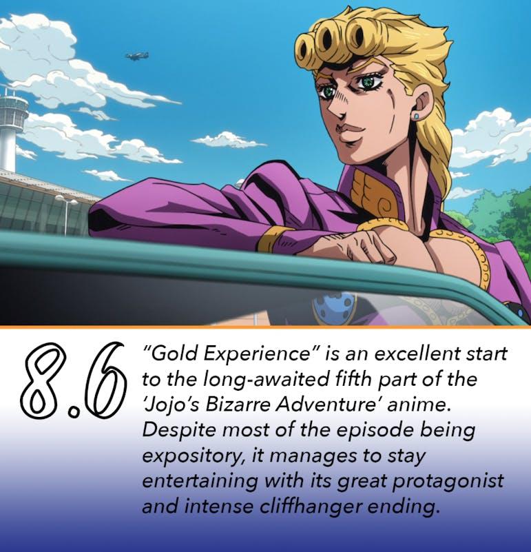 "REVIEW: 'Jojo's Bizarre Adventure: Vento Aureo' Episode 1: ""Gold"