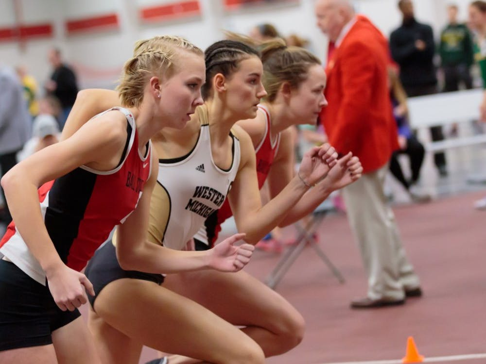 The Ball State track and field hosts the only home indoor meet of the season in the Field Sports Buidling on Feb. 17. The Ball State Tune-Up included teams from Fort Wayne, Western Michigan, and Wright State. Kyle Crawford // DN