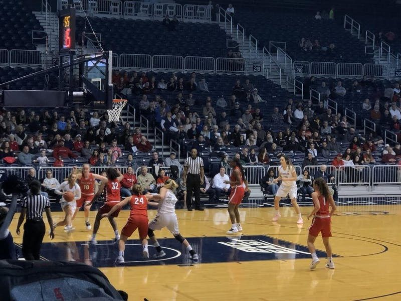 The Ball State Women's Basketball team looks to prevent a Butler scoring opportunity in a game at Hinkle Fieldhouse on Dec 2, 2018. The Cardinals lost the game, 65-47. Gabi Glass,DN