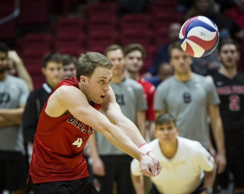 Ball State Men's Volleyball falls to even record against No. 11 Stanford