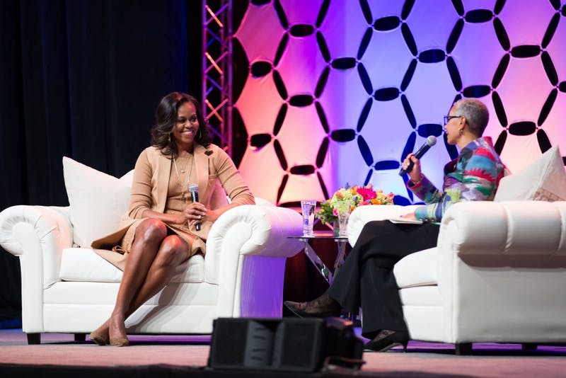 Former first lady Michelle Obama talks self-confidence, empowerment in Indianapolis