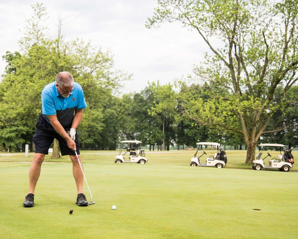 Members of the community participate in the 2018 annual Roy C. Buley Memorial Golf Outing. Buley was a 1935 graduate of Muncie Central High School who worked to help fight against racism and segregation in Muncie. Amy Logan, photo provided.