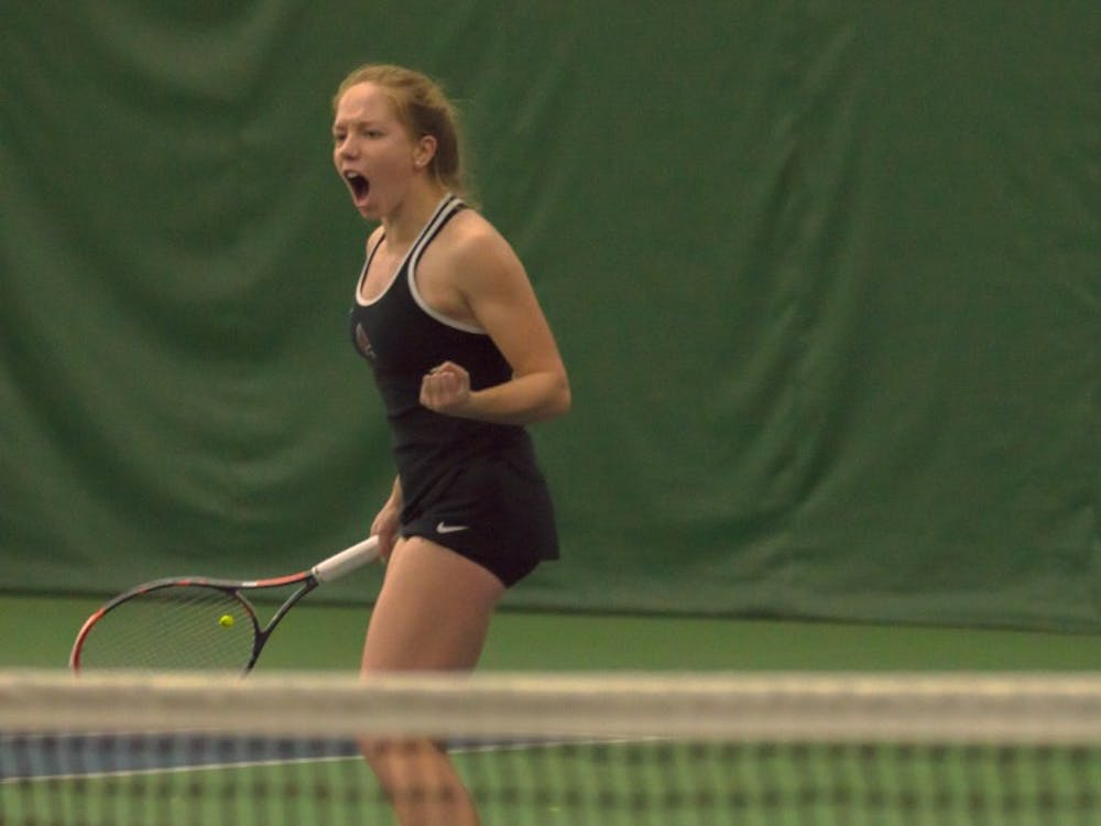 Women's tennis competed against Miami March 23. The Cardinals lost 1-6.