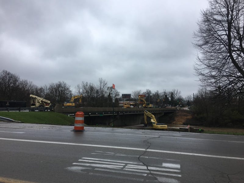 The Burlington drive bridge over the Muncie bypass will be closing on April 5 for construction. The bypass will remain open during the project allowing two lanes in both directions. Grace Ramey // DN