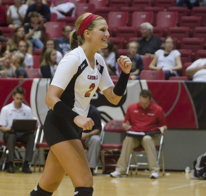 WOMEN'S VOLLEYBALL: Ball State defeats Central Michigan 3-1