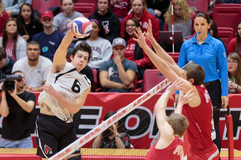 Worthen Arena sees 4th-largest men's volleyball crowd in Ball State's loss to Ohio State