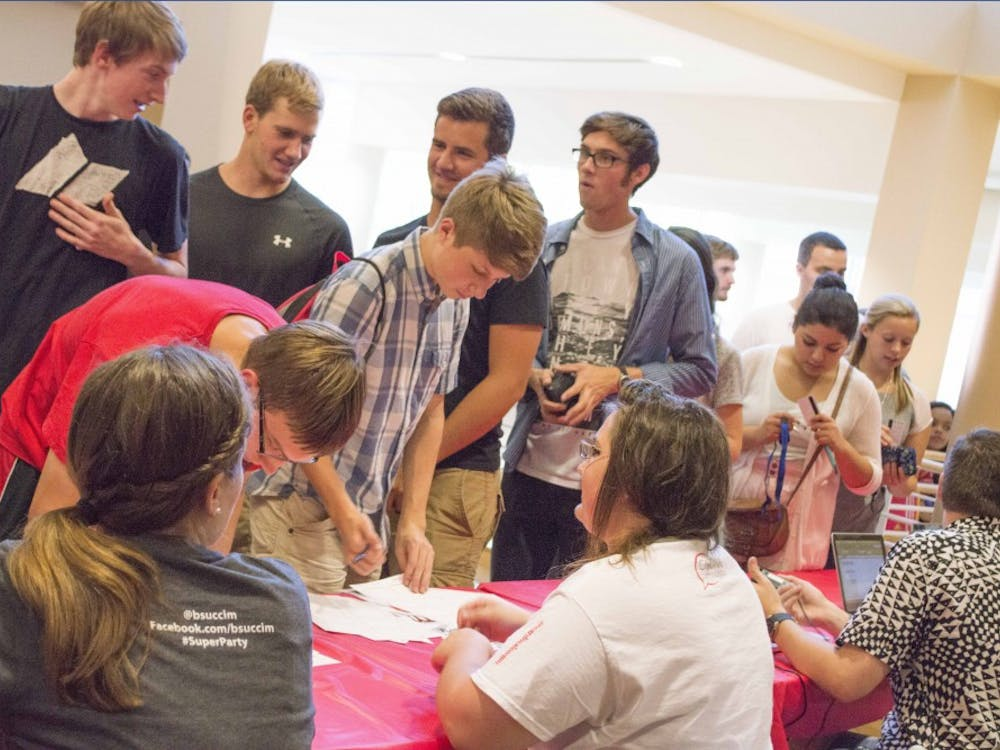The College of Communication, Information, and Media hosted the annual Super Party on Aug. 28 in the Art and Journalism Building, Ball Communcation and the David Letterman Building.