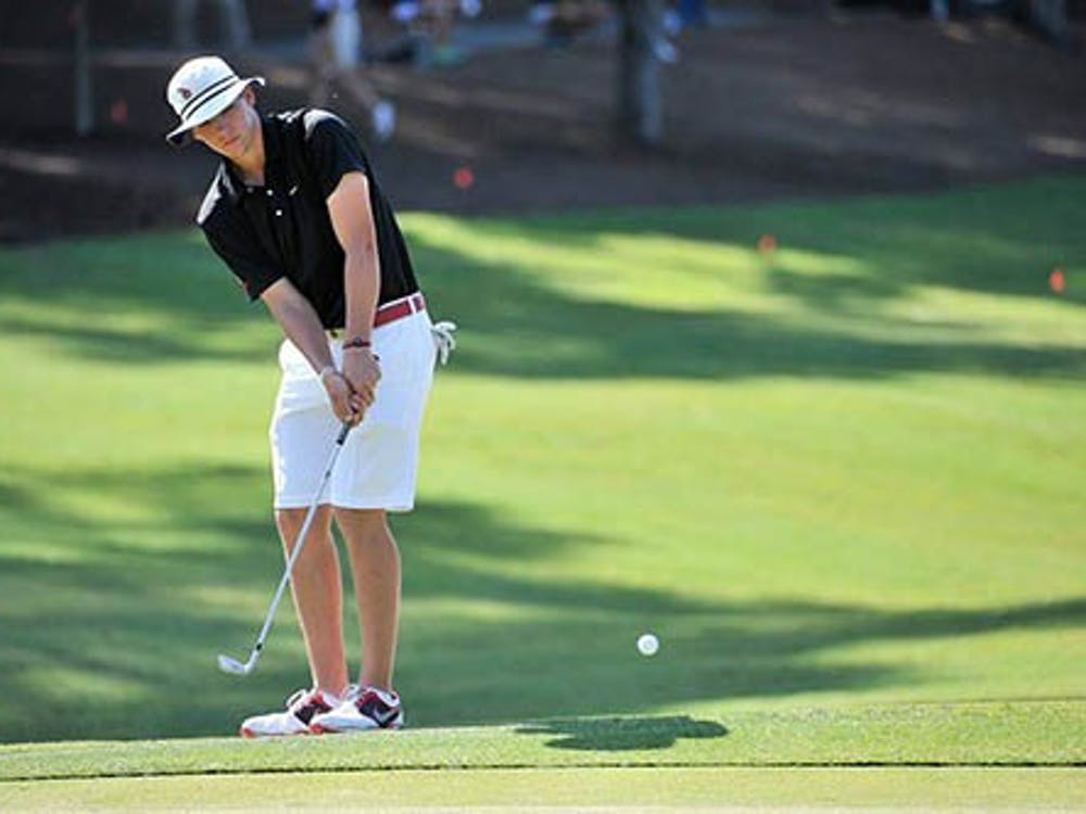 Tyler Merkel plays in the NCAA championship golf tournament, where Ball State placed 30th in the nation. Merkel took place in the Sunnehanna Amateur Tournament for Champions this past weekend and placed 15th of 83. PHOTO PROVIDED BY BSU ATHLETICS
