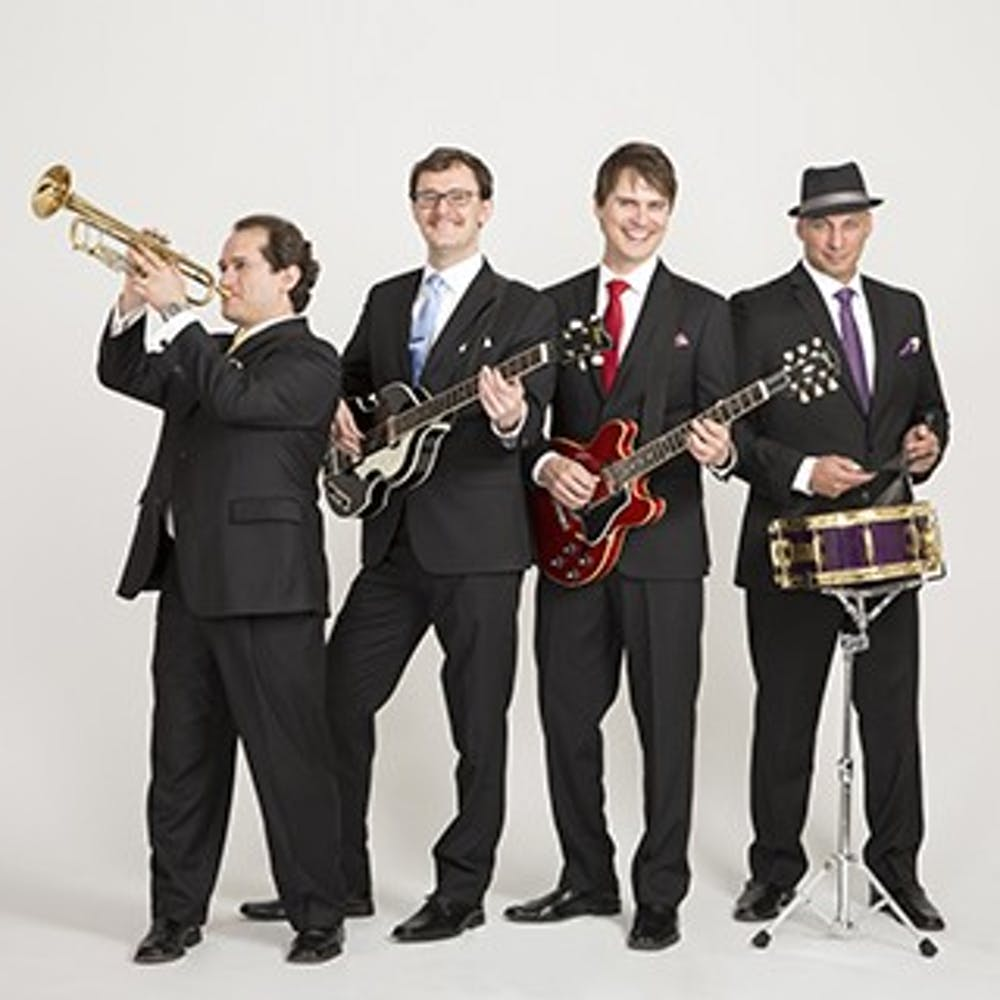 <p>The Four Freshmen, a male vocal band quartet, will perform in Pruis Hall Jan. 19. The band has recorded over 75 albums with 70 top-selling singles and holds&nbsp;6 Grammy nominations. <em>Four Freshman Ball State Calendar // Photo Courtesy</em></p>