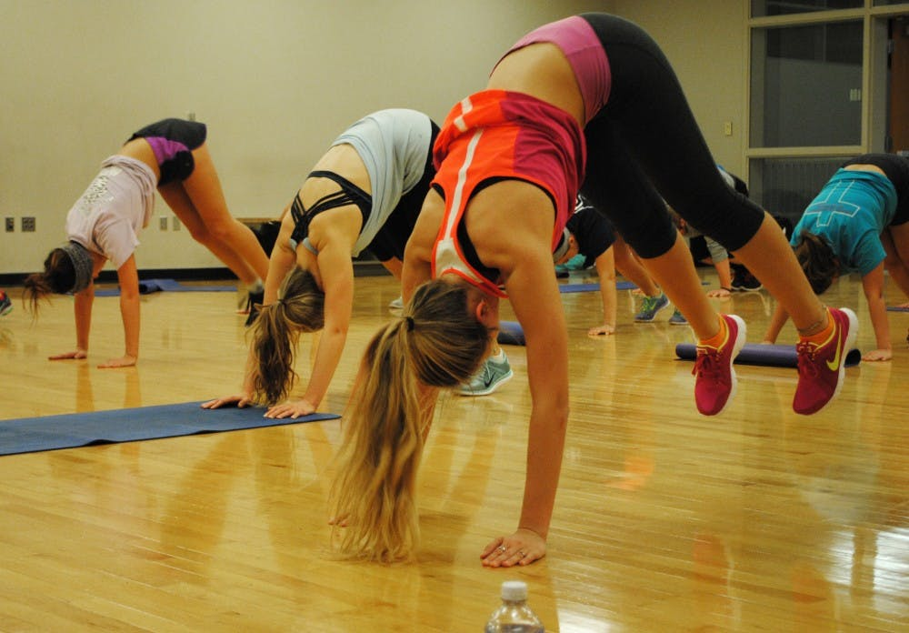 <p>On Tuesdays at 6:45 p.m., there is a BSU Fit class that now offers insanity at the Jo Ann Gora Student Recreation and Wellness Center in room 212A. DN PHOTO ALLISON COFFIN</p>