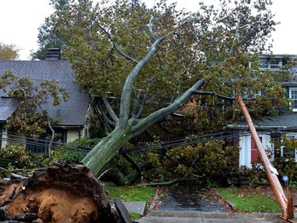 High winds from the East coast through the Midwest caused extensive damage to property.
