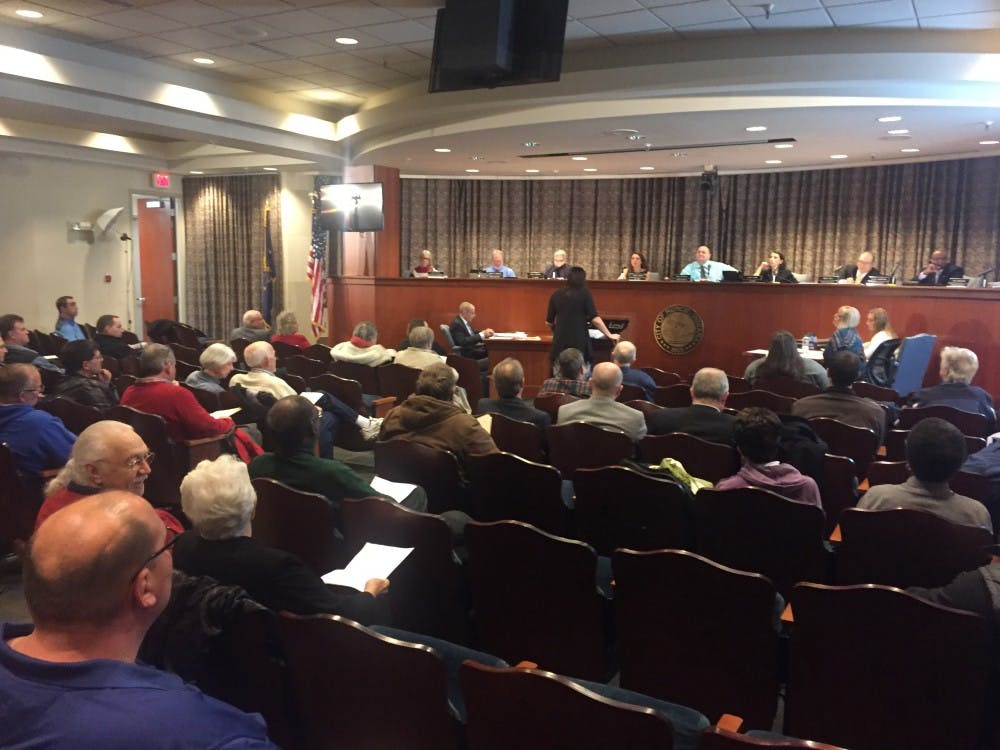 Muncie City Council withdrew a landlord-registration ordinance requiring landlords to make personal contact information publicly available during its meeting Jan.9. Dozens of landlords attended the public hearing in December to oppose the ordinance.Max Lewis // DN