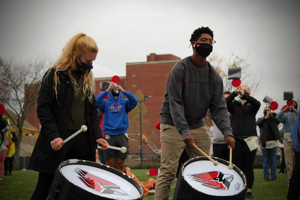 Ball State music majors, professors reflect on performing, practicing, learning during COVID-19 pandemic.