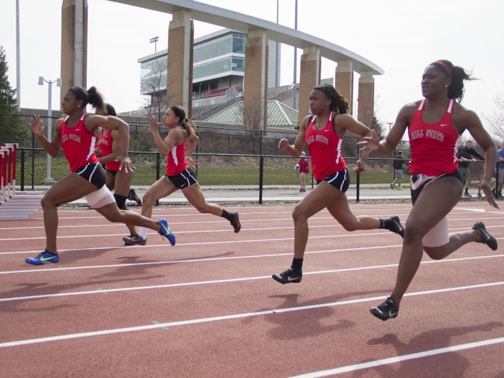 The Ball State track team took on IPFW April 11 at the University Track.