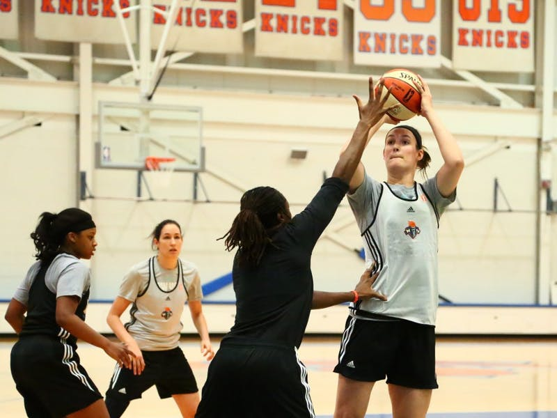 Former Ball State women's basketball center Renee Bennettwas invited over the weekend to take part in the New York Liberty's annual training camp with players from programs such as Connecticut, Notre Dame and Florida State. Bennett hopes tomake the case that she's good enough to play with the best in the WNBA.VincentNovicki // Photo Provided