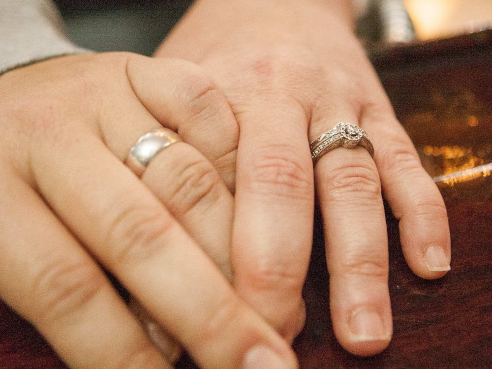 The first same-sex couple to be married on June 26 in Delaware County was Natasha and Ryder Cox. The couple got their paperwork and went to Cornerstone Center for the Arts on Main Street to say their vows in front of a few friends and Natasha