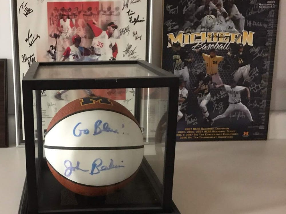 Rich Maloney worked wth John Beilein at the University of Michigan from 2007-2012. Beilein gave an autographed basketball to Maloney, and the two remain close today. Rich Maloney, Photo Provided