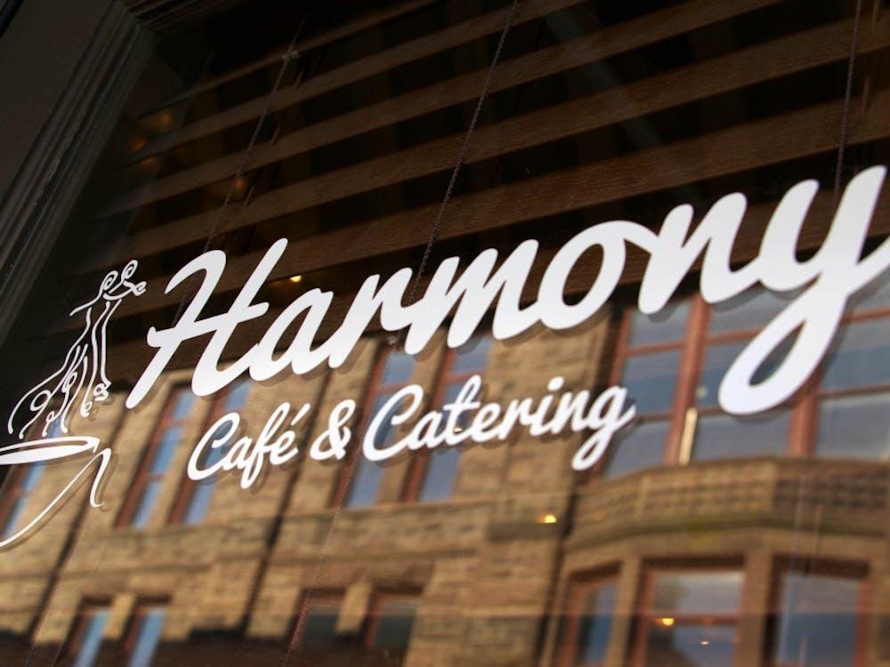 Harmony Café is a small corner shop located on Jackson Street in downtown Muncie, Indiana Jan. 18, 2018 (NEWS 397/Mara Semon).