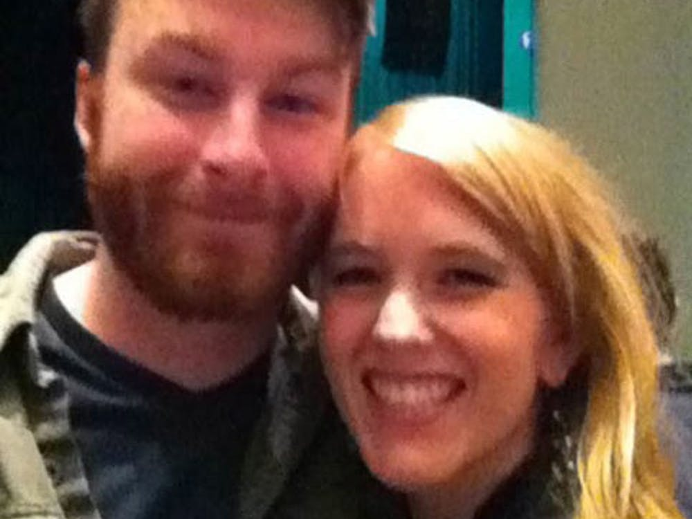 """Jacob Van Brunt poses with his now fiancé Audrey Hays. Brunt proposed to Hays as Fun. performed the song, """"The Gambler,"""" saying it fit the way he views his relationship with her. PHOTO PROVIDED BY AUDREY HAYS"""