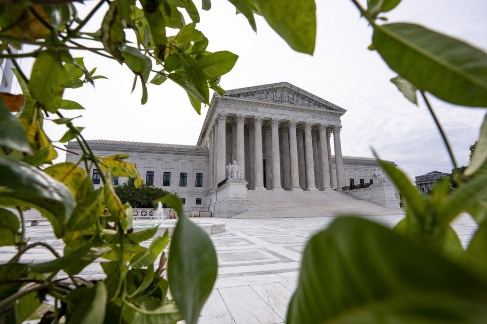 <p>The Supreme Court is seen in Washington, early Monday, June 15, 2020. <strong>(AP Photo/J. Scott Applewhite)</strong></p>