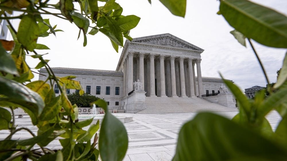 The Supreme Court is seen in Washington, early Monday, June 15, 2020. (AP Photo/J. Scott Applewhite)