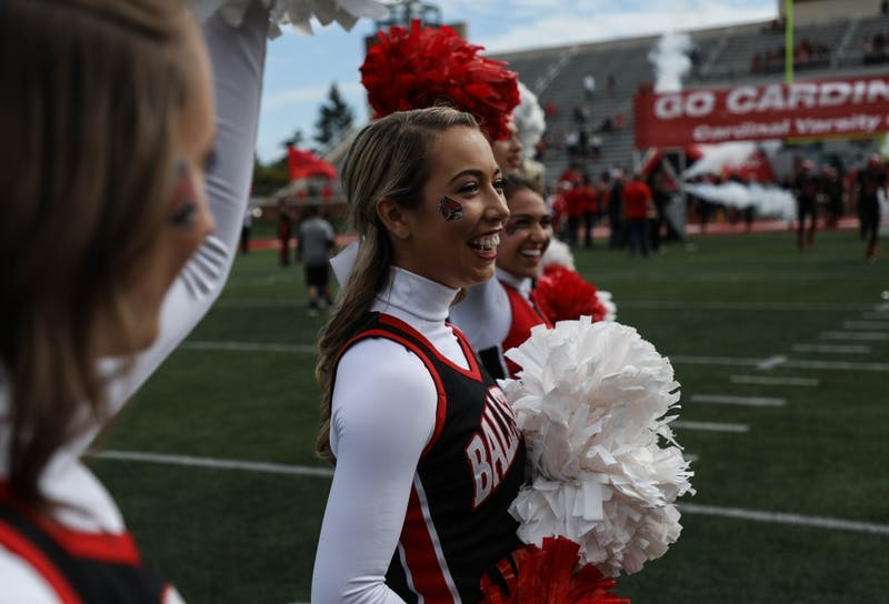 Ball State spirit squads play an important role in the tradition of homecoming