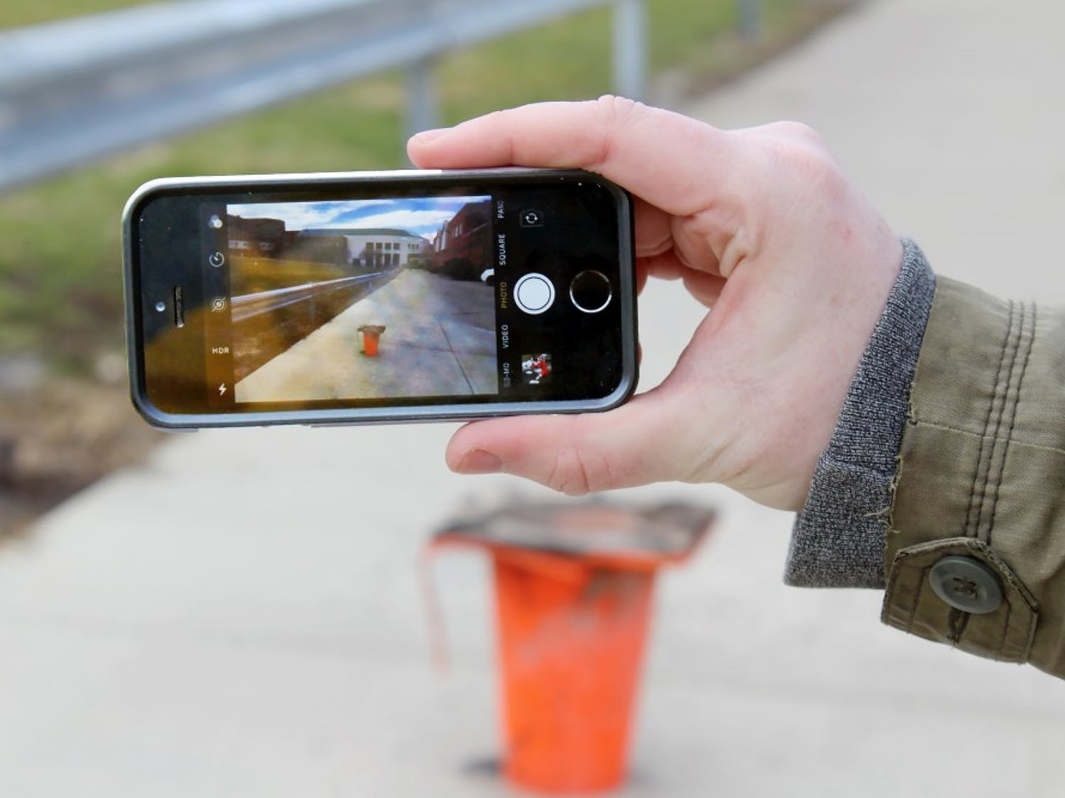 The upside-down cone by the Commons has been posted several times in the Facebook group Cone Spotting. The group is dedicated to taking and posting pictures of cones.