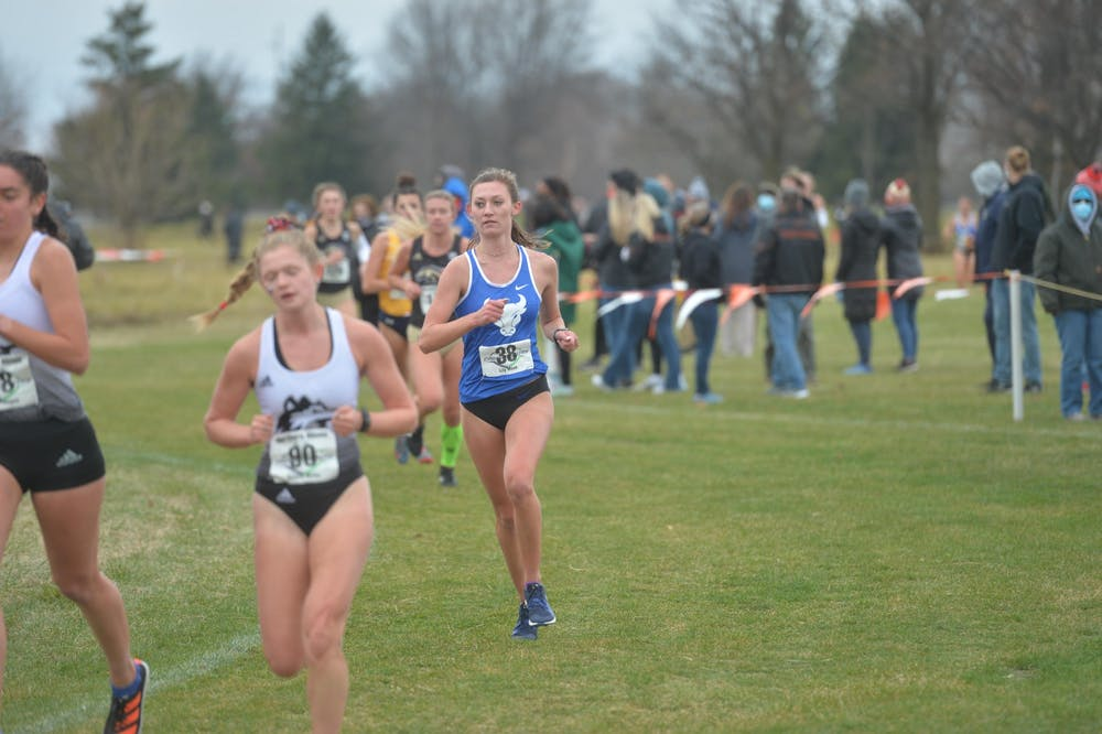 <p>The women's team came in last in a field of twelve teams at the MAC Cross Country Championship</p>