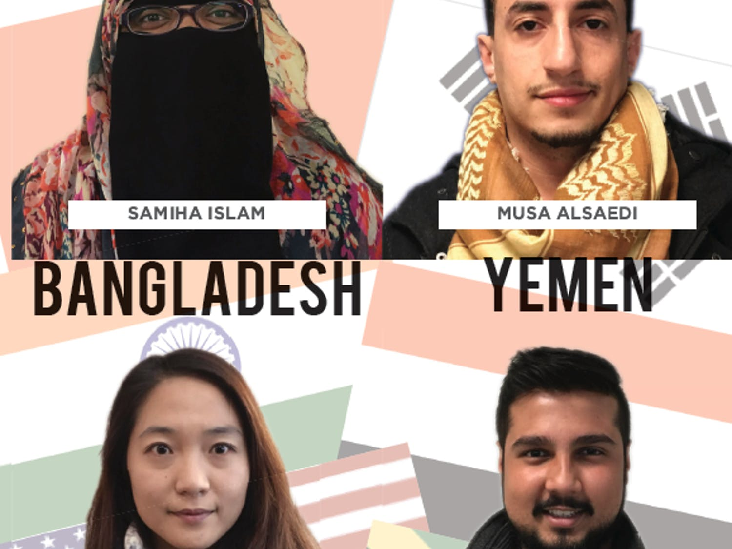 Samiha Islam, Musa Alsaedi, Soojung Baek and Biplab Bhattacharya are four UB students. Muslim and non-Muslim students share their reactions to President Trump's travel ban.