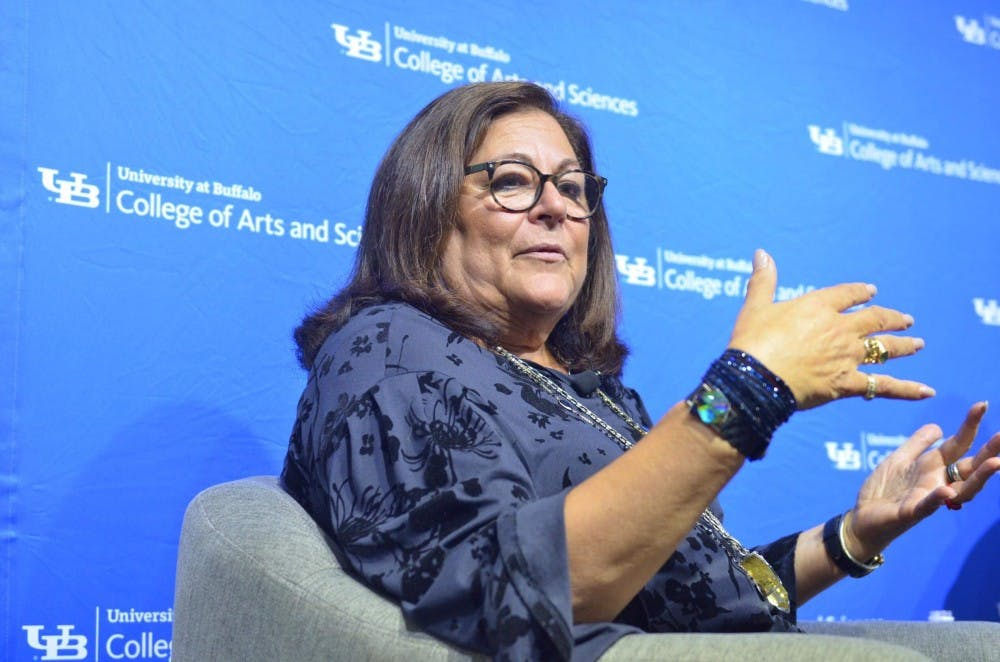 "<p>Fern Mallis, creator of New York Fashion Week and UB alum, spoke in Hayes Hall as part of UB's new ""Lessons Learned"" alumni speaker series. Mallis spoke on Thursday about her successes in the fashion industry and time as a UB student.</p>"