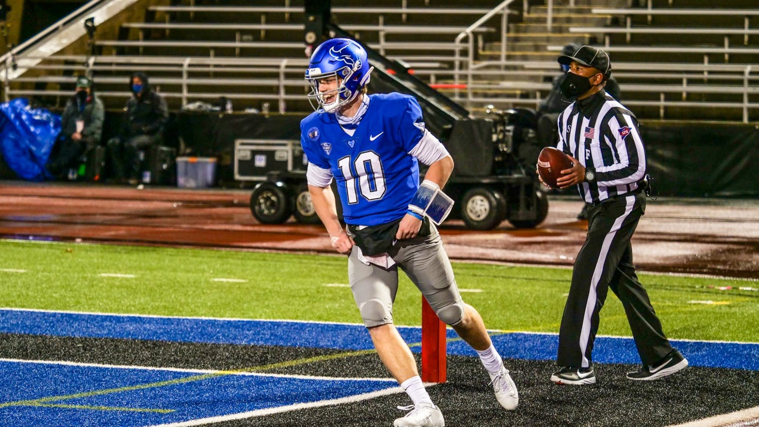 Backup quarterback Matt Myers is one of eight players to enter the NCAA Transfer Portal since Lance Leipold took the Kansas head coaching job last Friday.