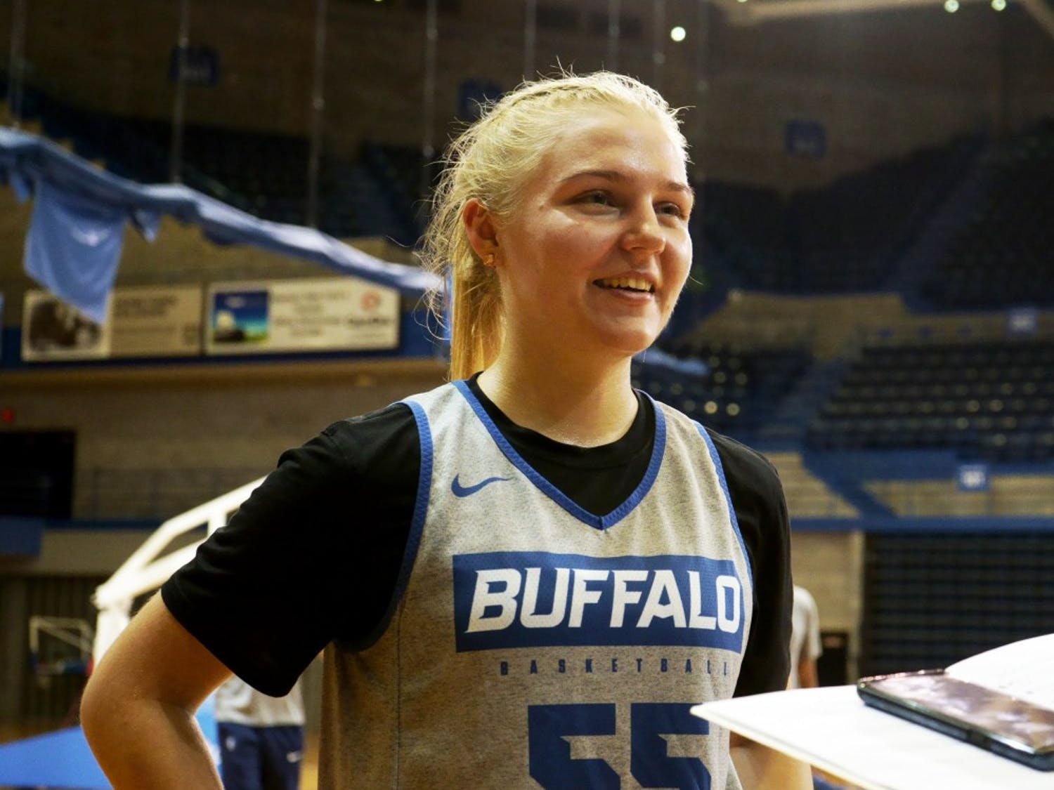 Jessika Schiffer at basketball practice.