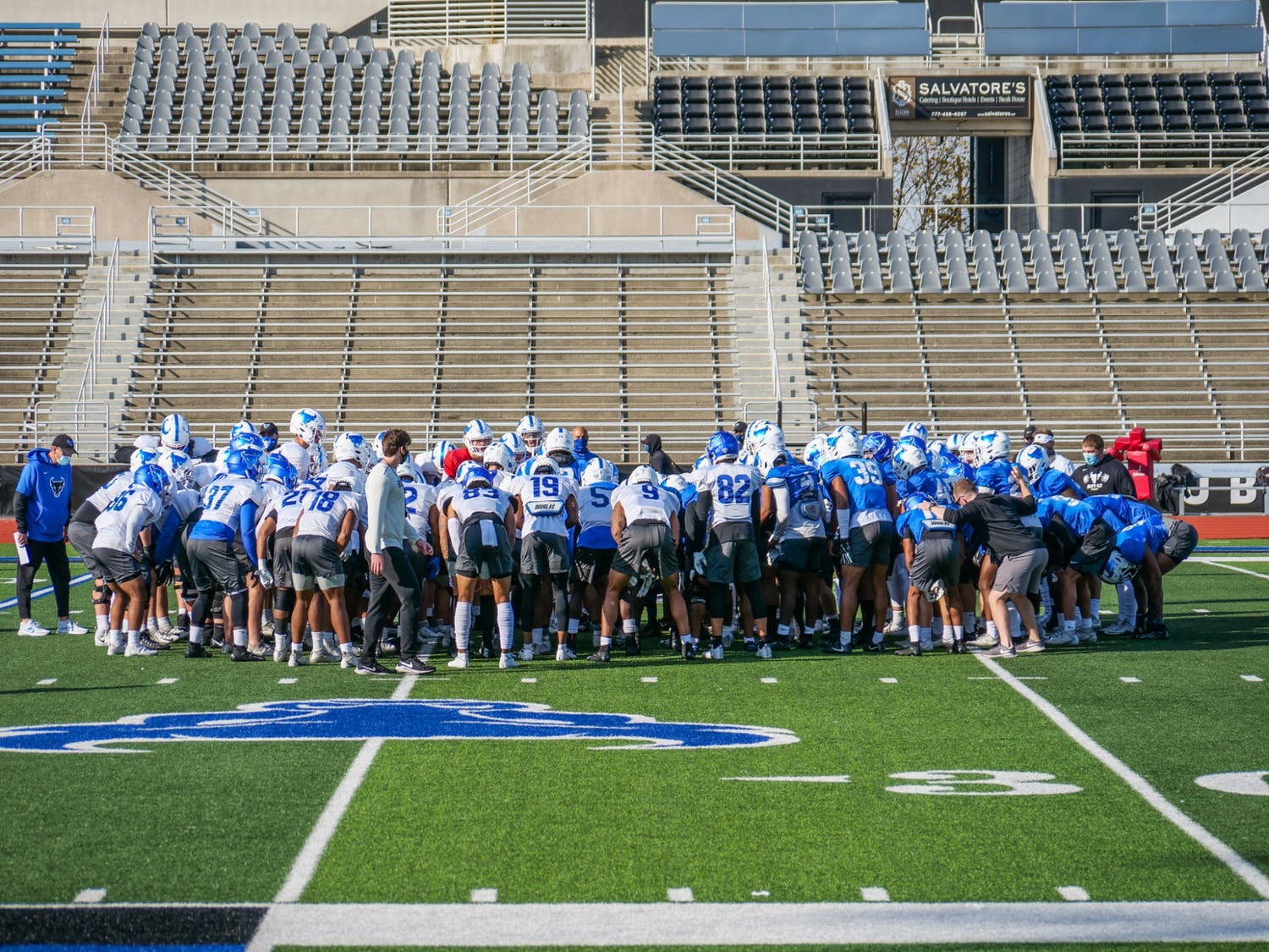 """""""The University at Buffalo Division of Athletics is committed to sustaining a culture of diversity and inclusion and strongly denounces racism in all forms,"""" UB Athletics said in a statement."""