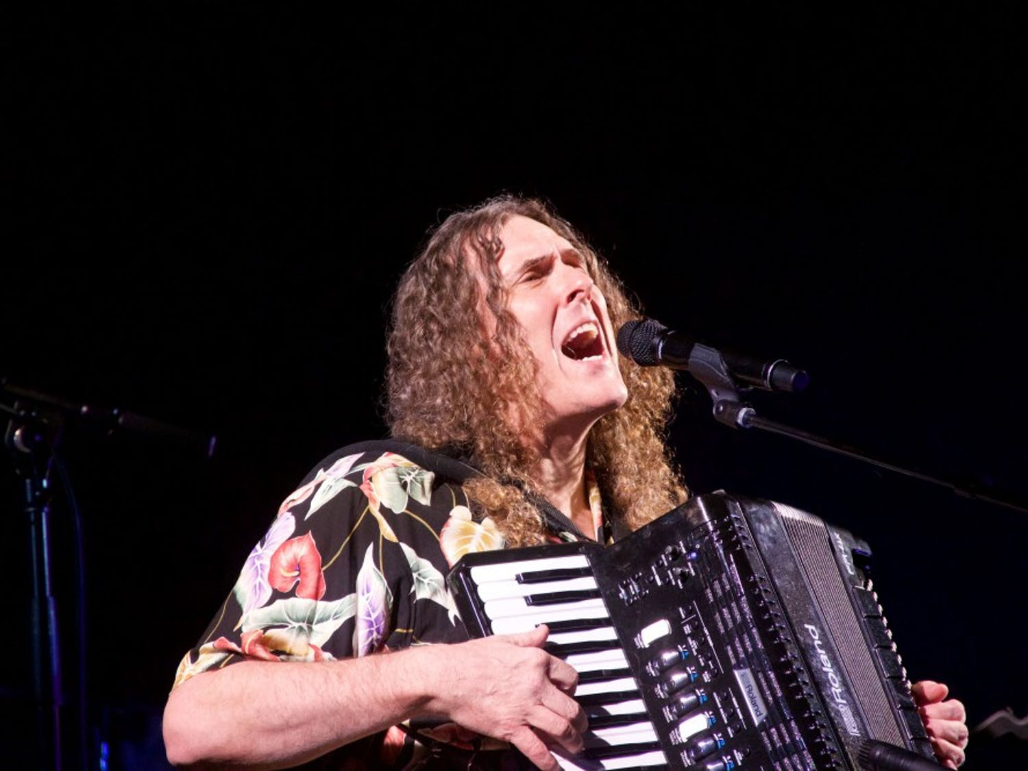 Comedian and musician Weird Al Yankovic took to the CFA Tuesday night to play a string of original tracks and a medley of his most popular parodies.