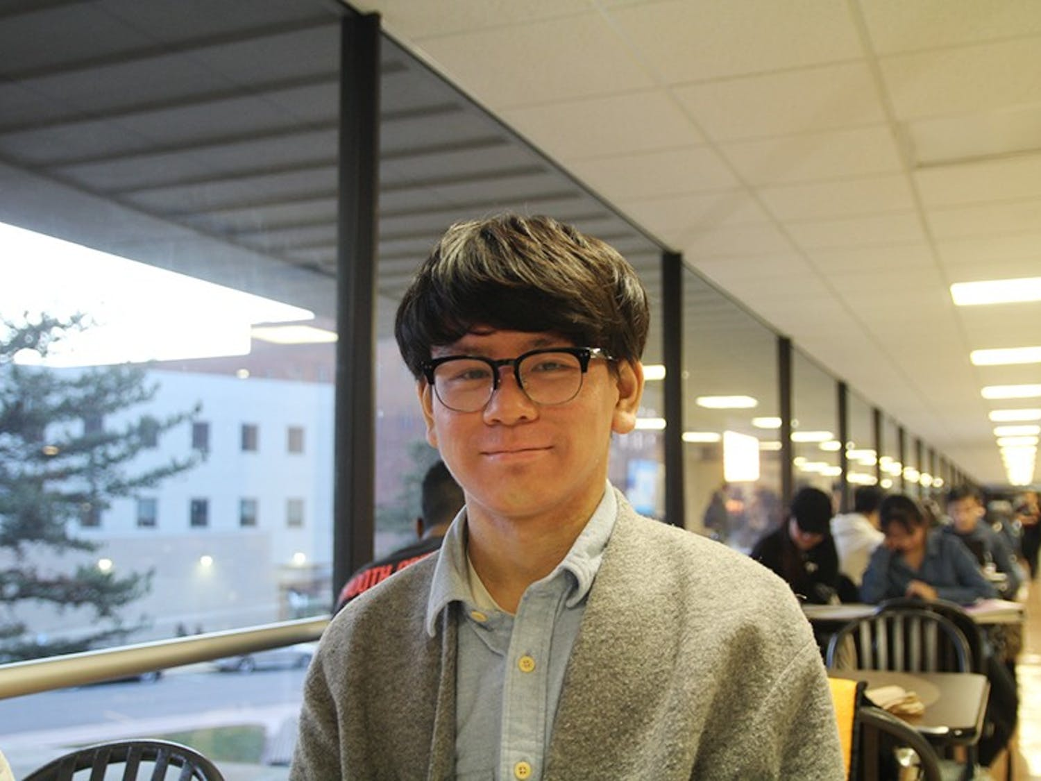 Sophomore business student Yubin Xie. International students continue to pursue their college education a year into the Trump administration.