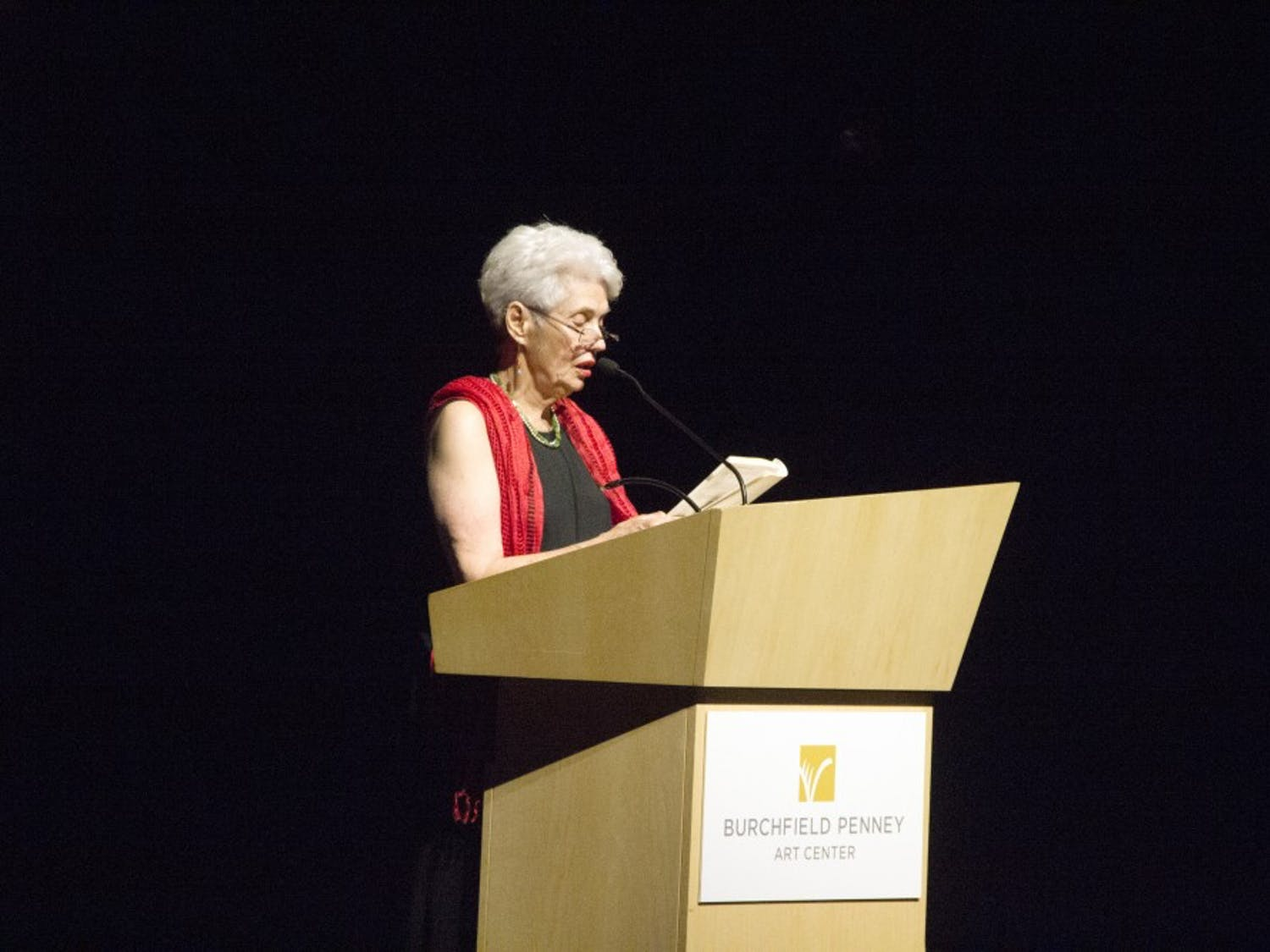 """Cuban-born poet and educator Olga Karman read recollections of her time in Cuba to attendees at the riverrun Global Film Series. The series, in its second year, delivered propaganda films like """"Soy Cuba"""" (I Am Cuba) to packed audiences along with a musical performance by Wendell Rivera."""