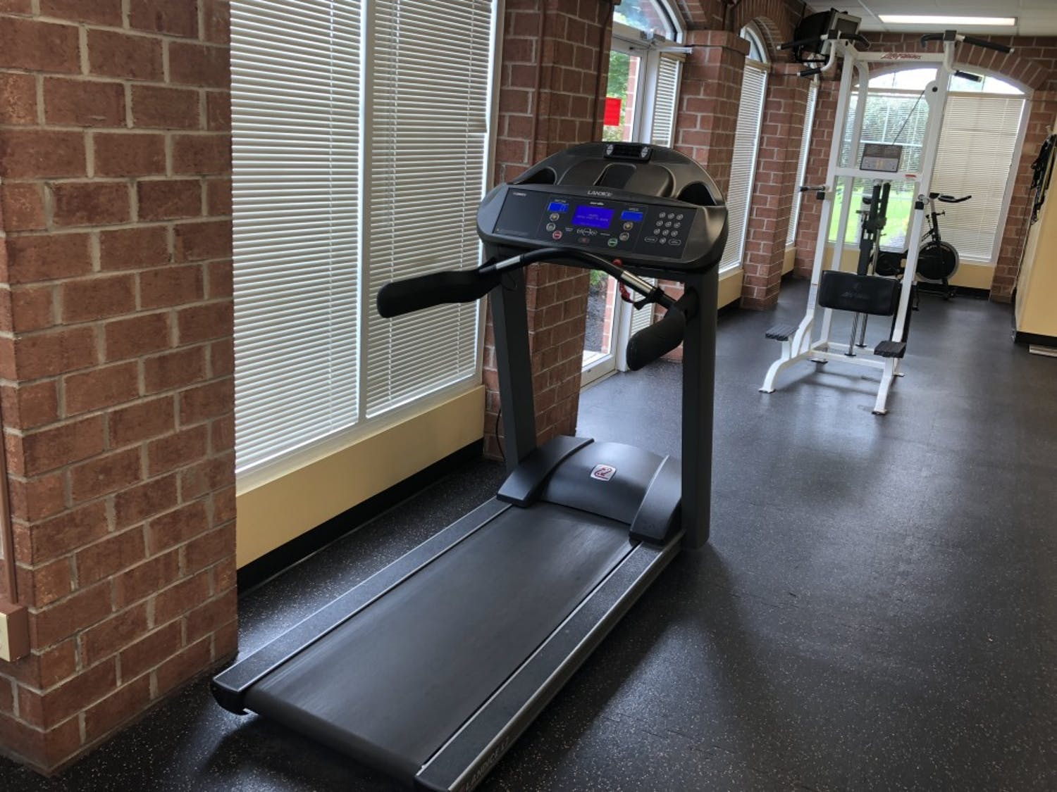 A Landice L7 model treadmill sits in Hadley Village. The Erie County District Attorney's office said UB has a Landice L7 model treadmill, purchased by former Campus Living director Andrea Costantino. UB, however, says it has no record of Costantino's treadmill returning to campus.