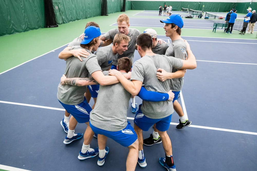 <p>Since head coach Lee Nickell took over the program in 2009, the UB men's tennis team has utilized international recruiting to build a competitive team.</p>