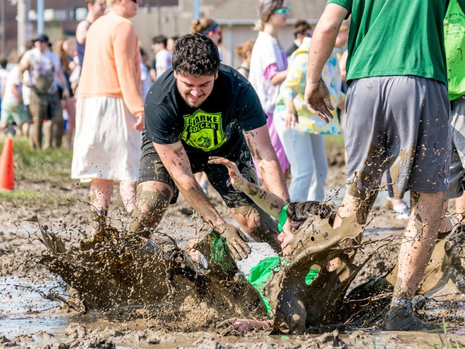 Oozefest, UB's annual mud volleyball tournament, celebrates its 35th anniversary on May 4. The event was created in 1984 as a way to help students bond and de-stress before exams.