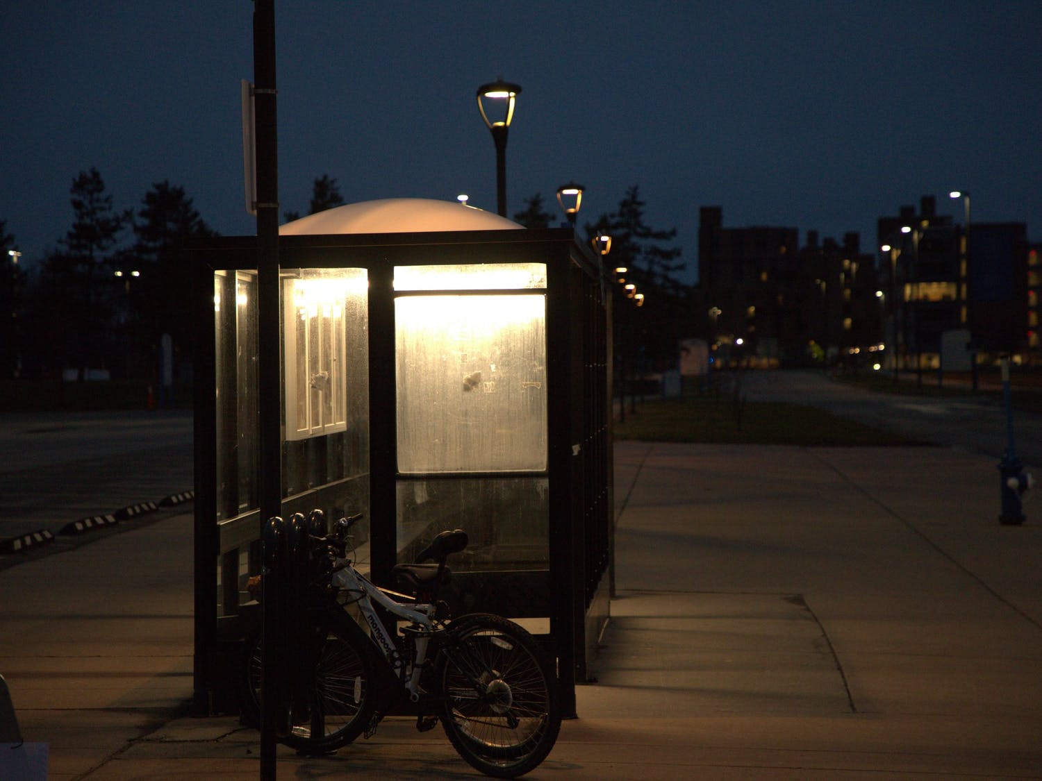 UB's once busy bus stops are now largely vacant, especially at night.